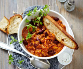 Kürbis-Chili Con Carne