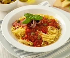 Pikantní sicilské špagety