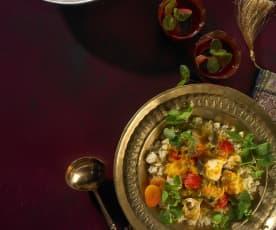 Orientalischer Pouleteintopf mit Couscous