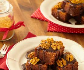 Čokoládový koláč s ořechy