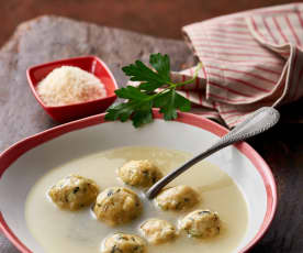 Chicken Broth with Bread Dumplings