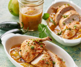 Honig-Limetten-Hähnchen mit Mango-Chutney