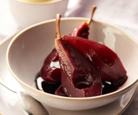 Pears in Spiced Red Wine