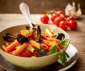Penne with Mussels
