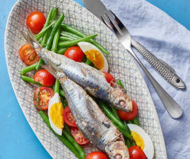 Sardine Parcels with Green Bean Salad