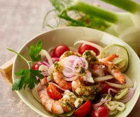Sizilianischer Garnelensalat