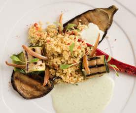 Couscoussalat mit gebratenem Gemüse