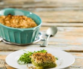 Bacalhau no forno com esparregado de brócolos