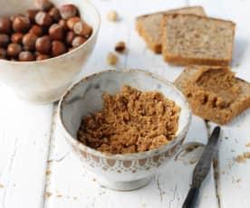 Pasta de avelã e sementes de girassol