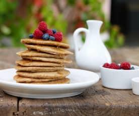 Oat Pancakes with Peanut Milk