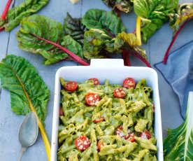 Penne com legumes no forno