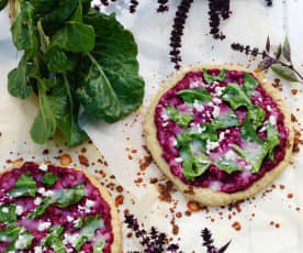 Beetroot and Kale Pizza