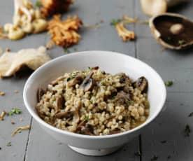 Risoto de cevadinha com cogumelos