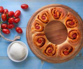 Corona di pan di pizza