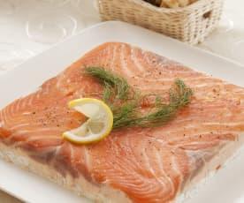 Milhojas de salmón ahumado
