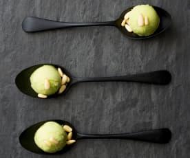 Basil sorbet (palate cleanser)