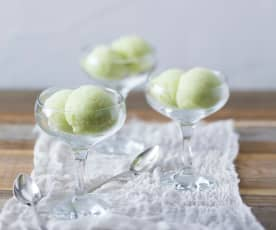 Avocado sorbet (palate cleanser)