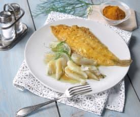 Sogliole e finocchi con curry al Varoma