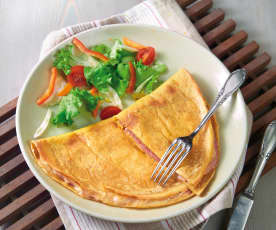 Omelette,  cotto e formaggio (senza uova)
