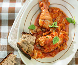 紅椒燉雞肉