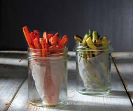 Patatine di carote e zucchine