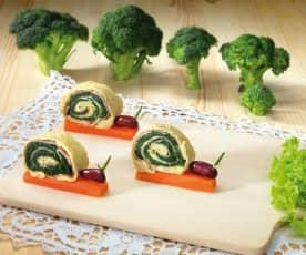 Lumachine farcite con spinaci e prosciutto