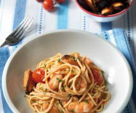 Spaghetti cozze e gamberi