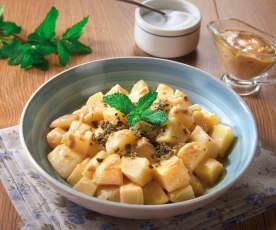 Insalata di patate con senape e menta