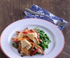 韭菜炒豆包