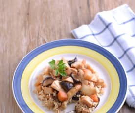 竹筍雞肉煲飯