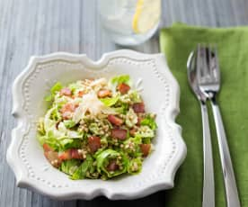 Zimní salát s pohankou a růžičkovou kapustou