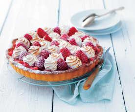 Tarte meringuée fraise rhubarbe