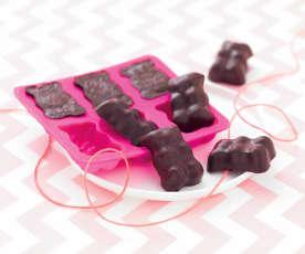 Petits oursons guimauve-chocolat