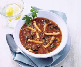 Makkaroni-Hackfleisch-Suppe