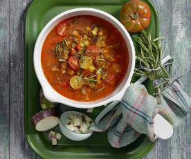 Ratatouille Suppe