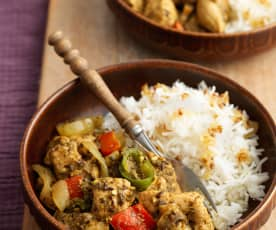 Chicken and Mushroom Balti