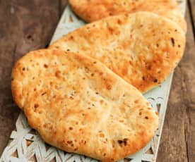 Naan Bread with Onion and Cumin