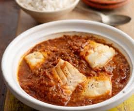 Timatar Wali Macchi (Cod in Tomato Sauce)