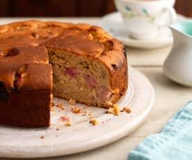 Rhubarb and Ginger Spelt Cake