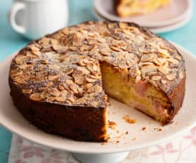 Rhubarb, Orange and Almond Cake