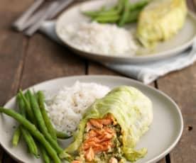 Thai Steamed Trout Parcels