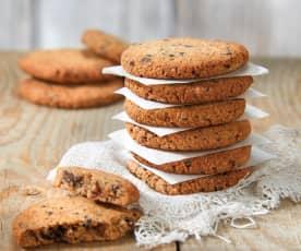 Biscotti veloci di frutta secca e cioccolato (senza zucchero)