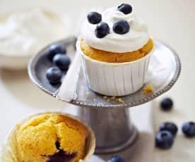 Blaubeer-Muffins mit Blaubeer-Topping