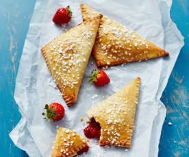 Erdbeer-Buttermilch-Dreiecke