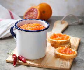 Marmellata di arance rosse e peperoncino
