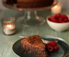 卡布里黑巧克力杏仁蛋糕