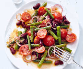 Rajčatovo-fazolový salát