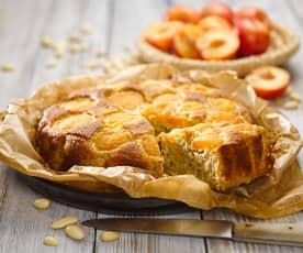 Polentový koláč s meruňkami (bez cukru)