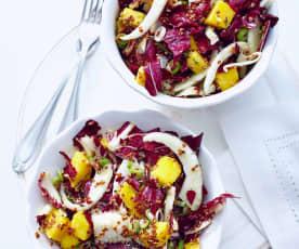 Mango-Radicchio-Salat mit Quinoa