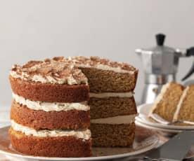 Kapučínový dort s karamelovým sirupem